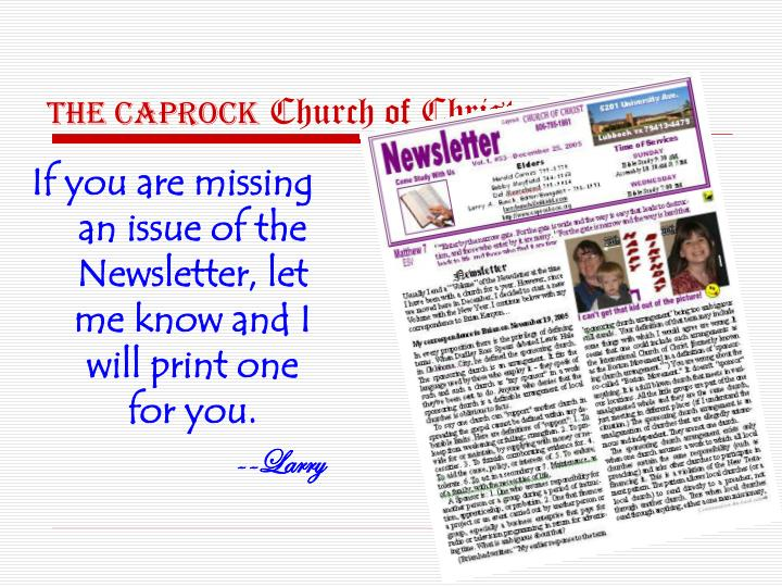 The CAPROCK