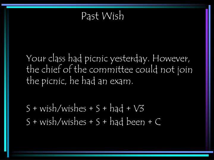 Past Wish