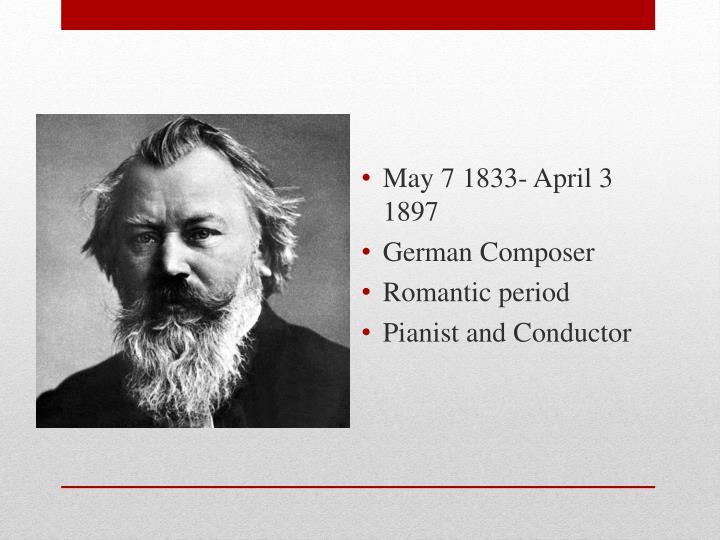 May 7 1833- April 3 1897
