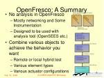 openfresco a summary
