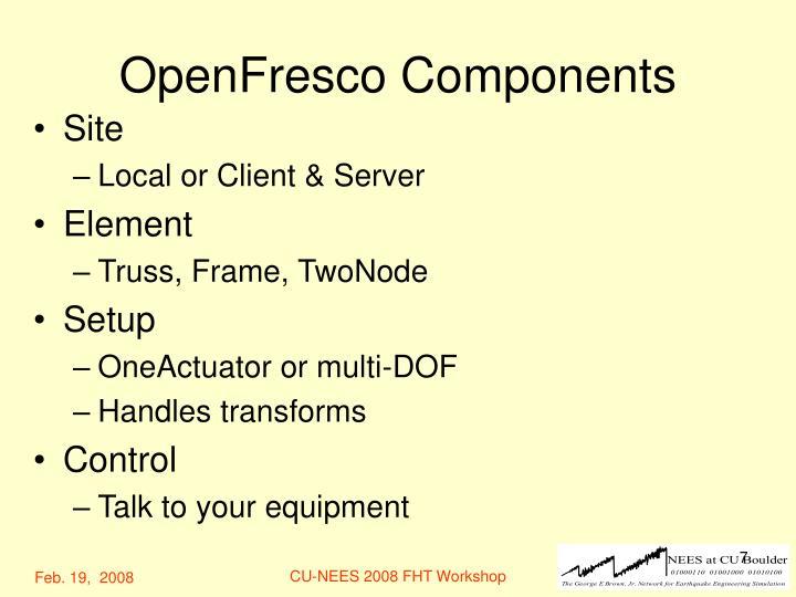 OpenFresco Components