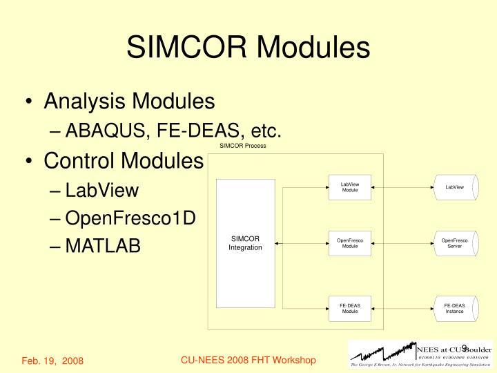SIMCOR Modules