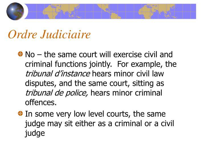 Ordre Judiciaire