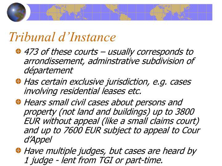 Tribunal d'Instance