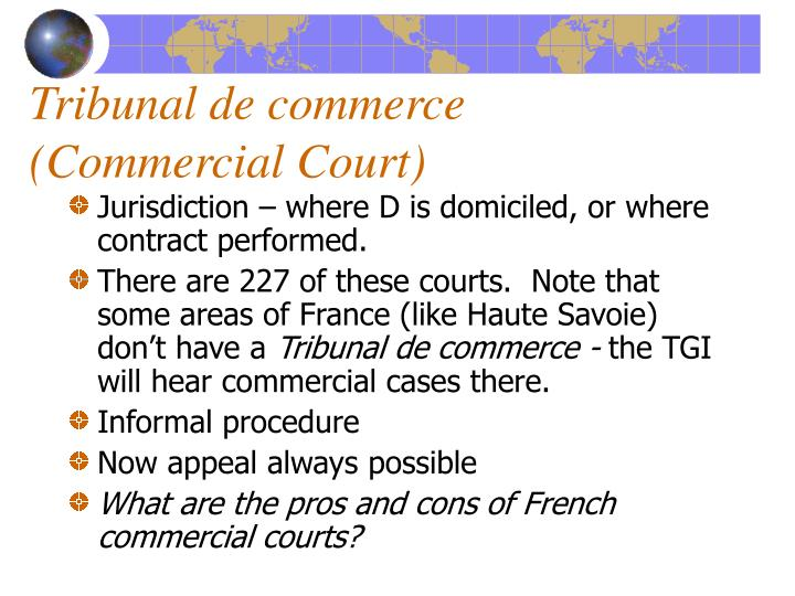 Tribunal de commerce (Commercial Court)