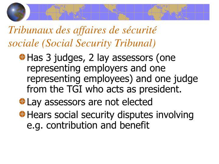 Tribunaux des affaires de s