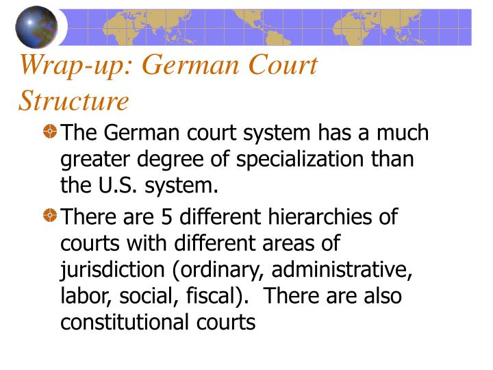 Wrap up german court structure