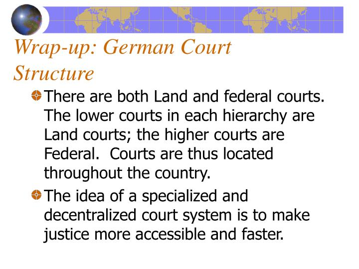 Wrap up german court structure1