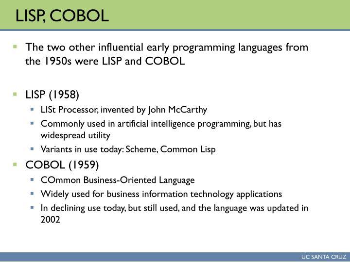 LISP, COBOL
