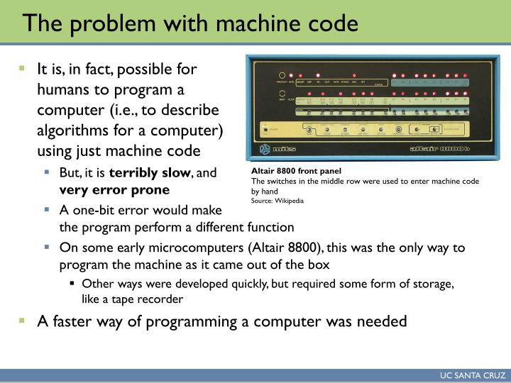 The problem with machine code