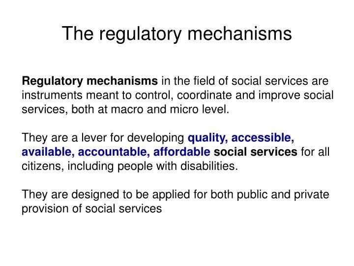 The regulatory mechanisms