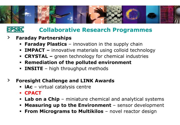 Collaborative Research Programmes