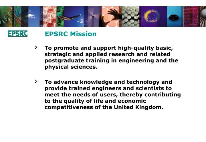 EPSRC Mission