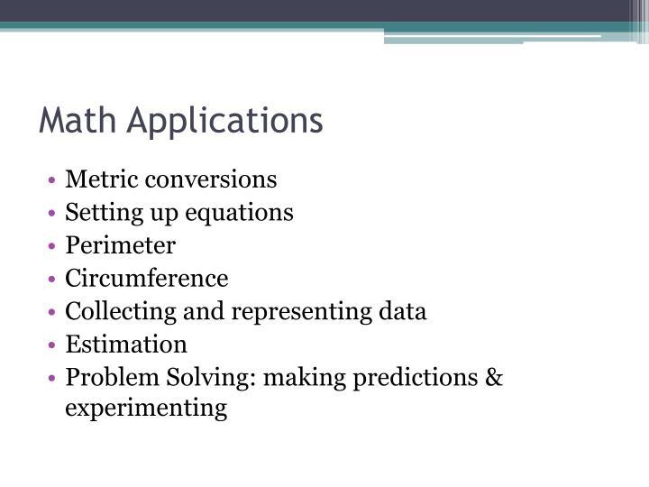 Math Applications