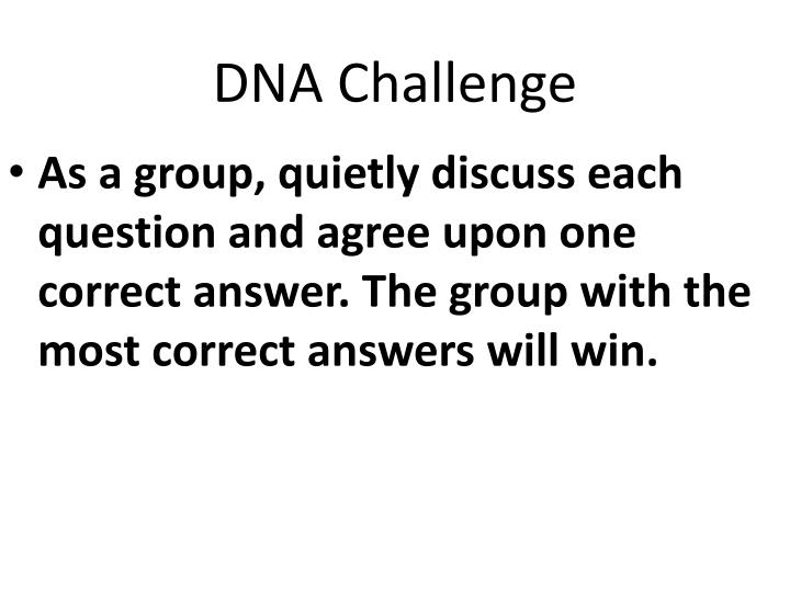 questions and answers on dna and