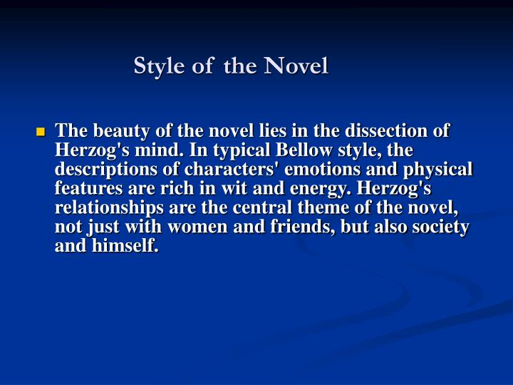 Style of the Novel