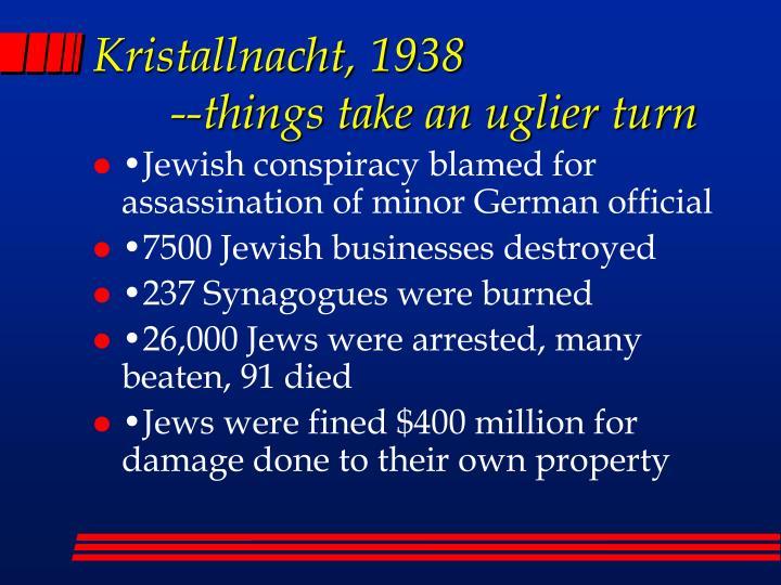 Kristallnacht, 1938