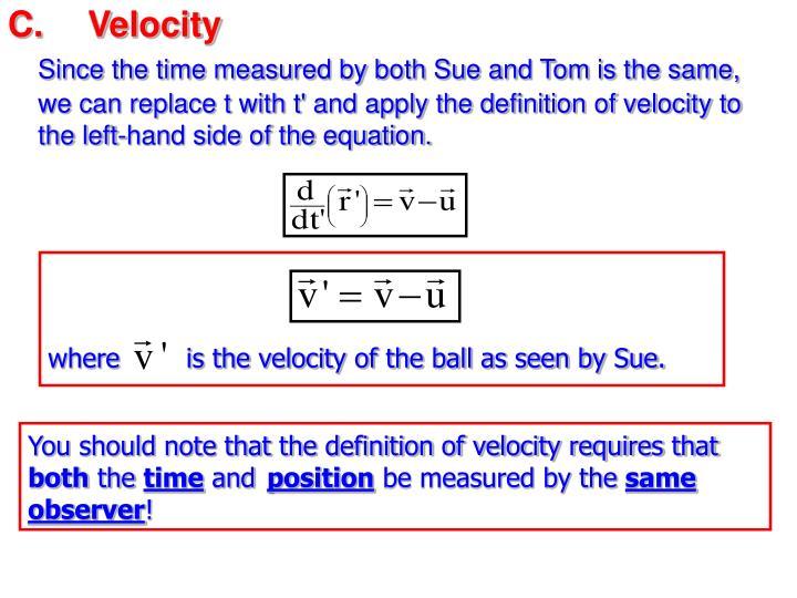 C.Velocity