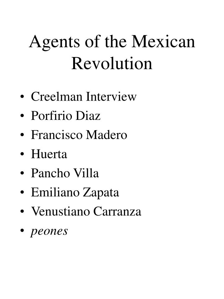 Agents of the Mexican Revolution