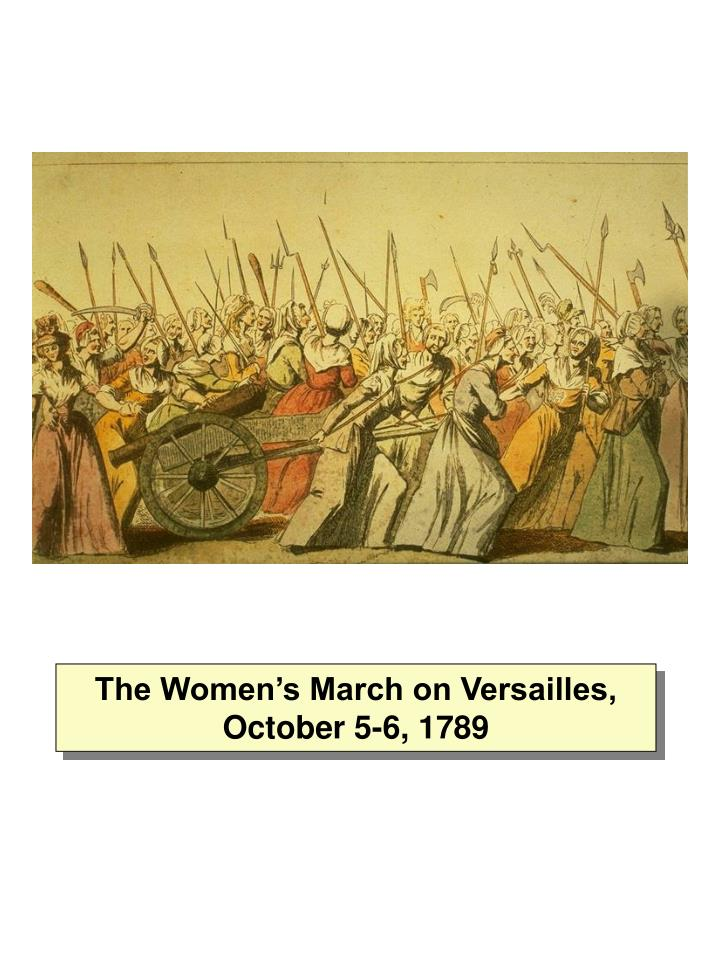 The Women's March on Versailles, October 5-6, 1789