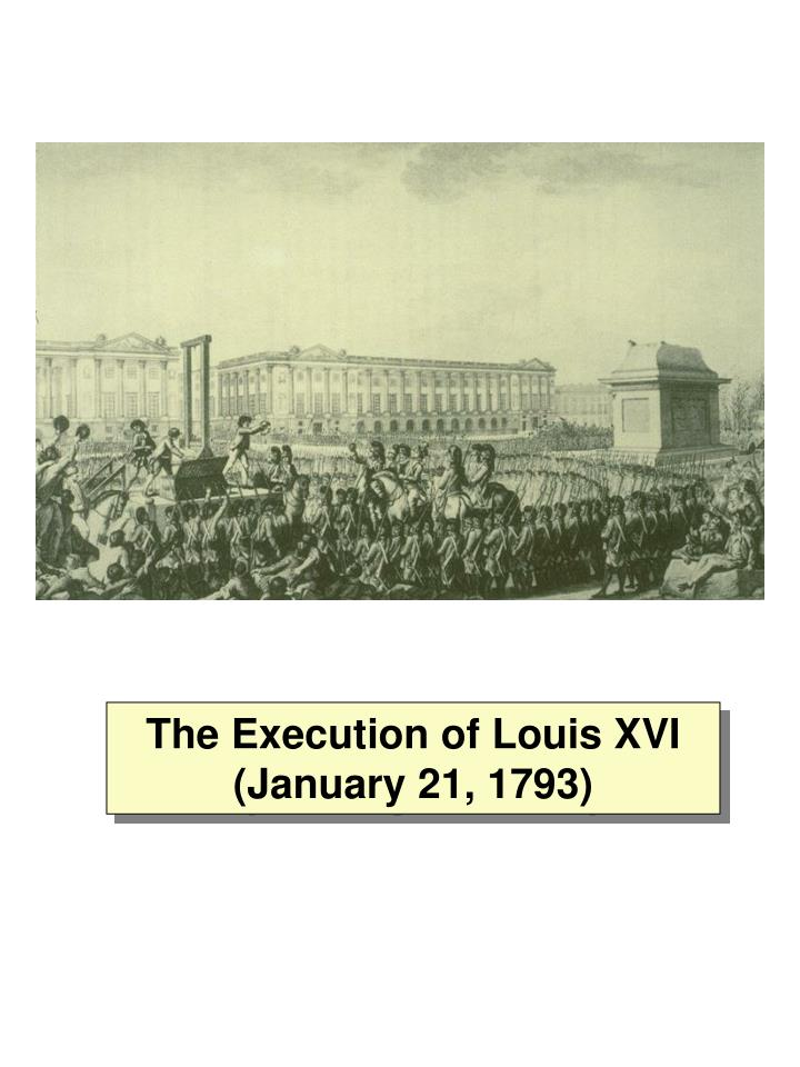 The Execution of Louis XVI (January 21, 1793)