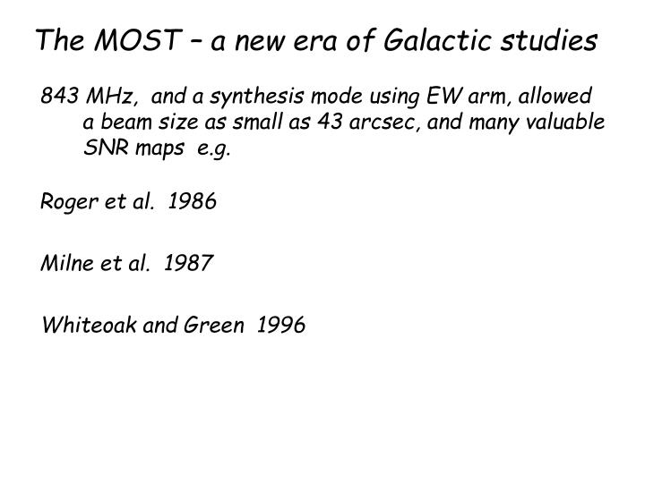 The MOST – a new era of Galactic studies