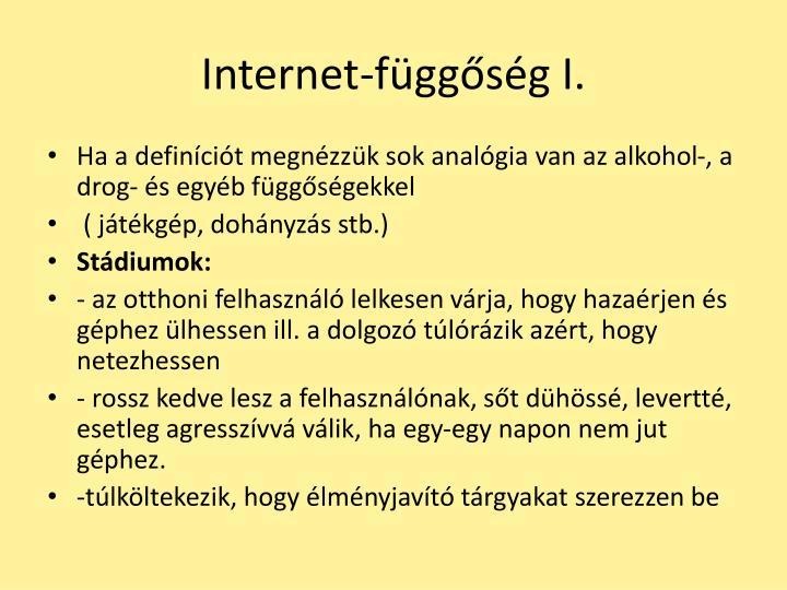 Internet-függőség I.