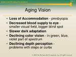 aging vision