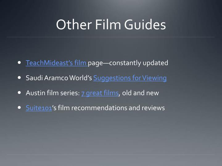 Other Film Guides