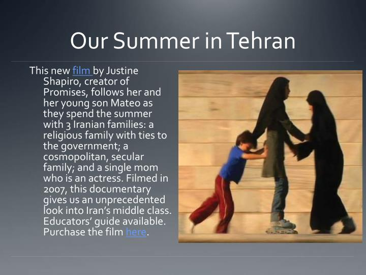 Our Summer in Tehran