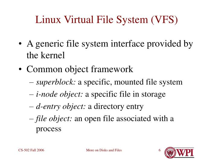 Linux Virtual File System (VFS)