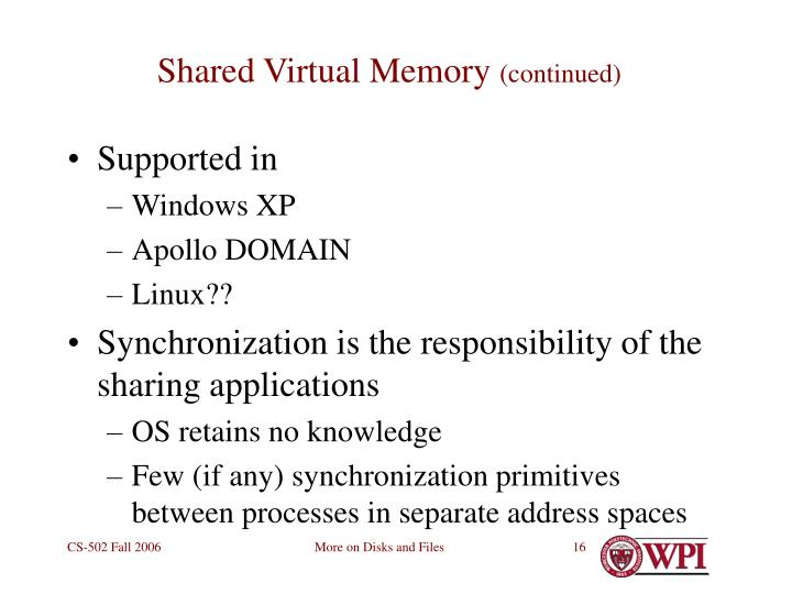 Shared Virtual Memory