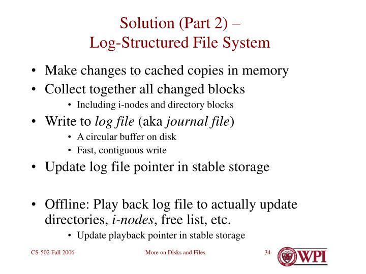 Solution (Part 2) –