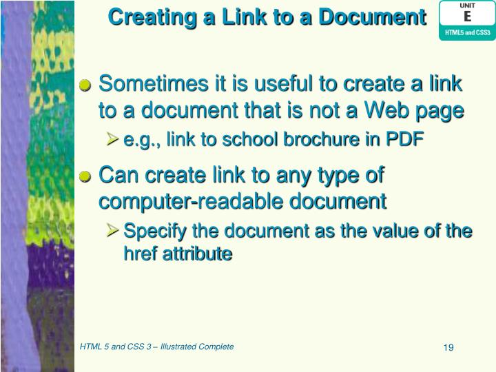 Creating a Link to a Document