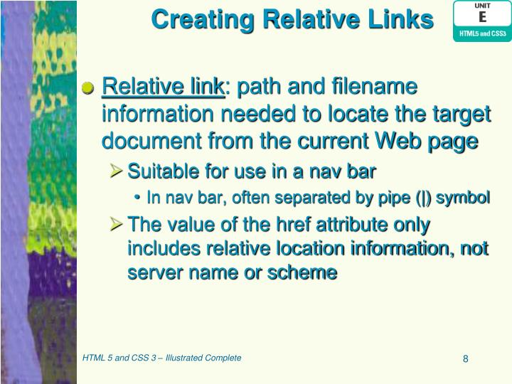 Creating Relative Links