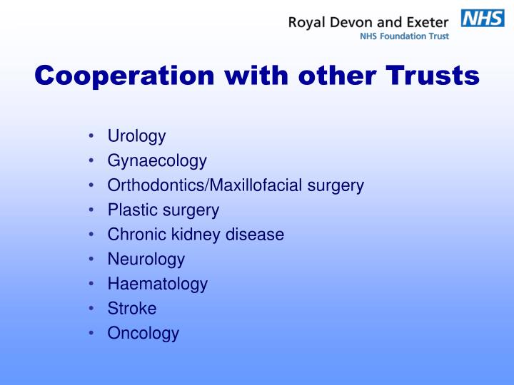 Cooperation with other Trusts