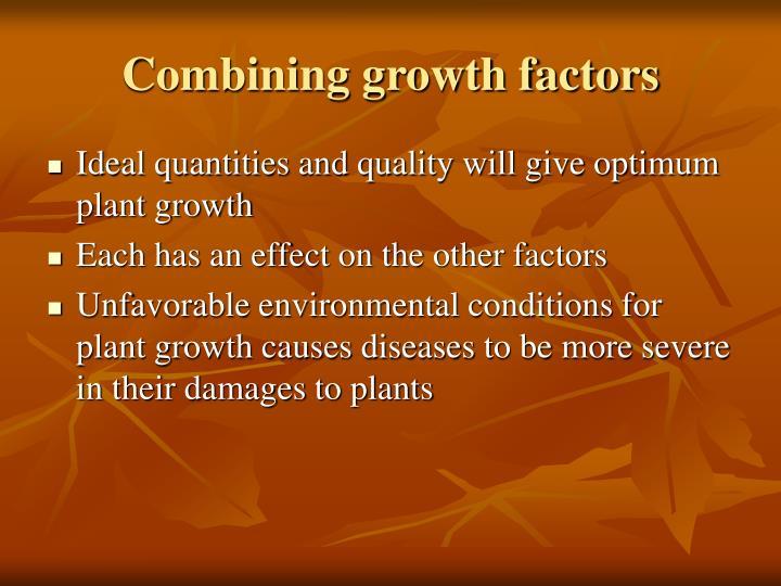 Combining growth factors