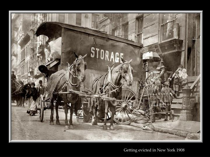 Getting evicted in New York 1908