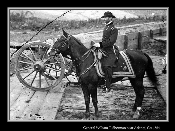 General William T. Sherman near Atlanta, GA 1864