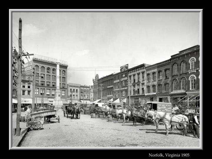 Norfolk, Virginia 1905