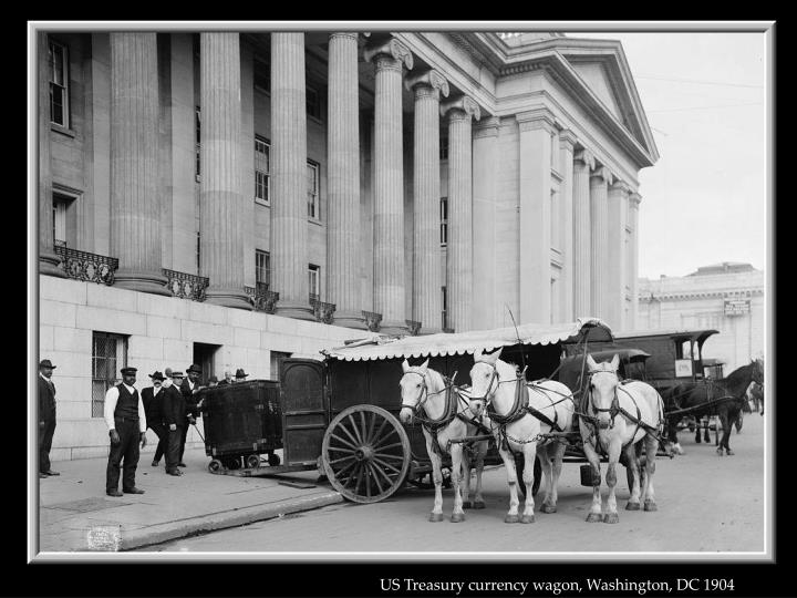 US Treasury currency wagon, Washington, DC 1904