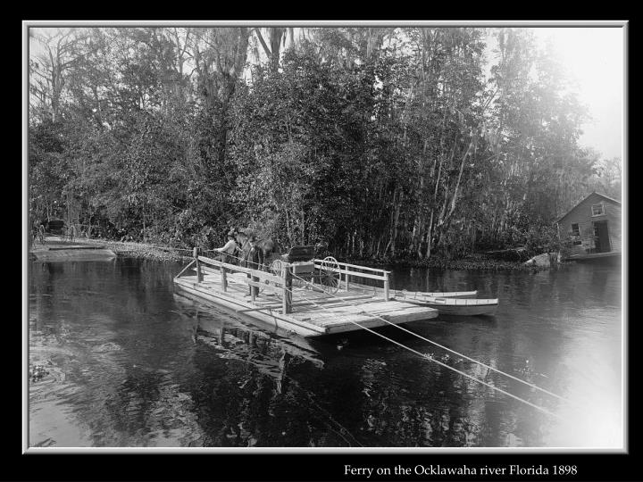 Ferry on the Ocklawaha river Florida 1898