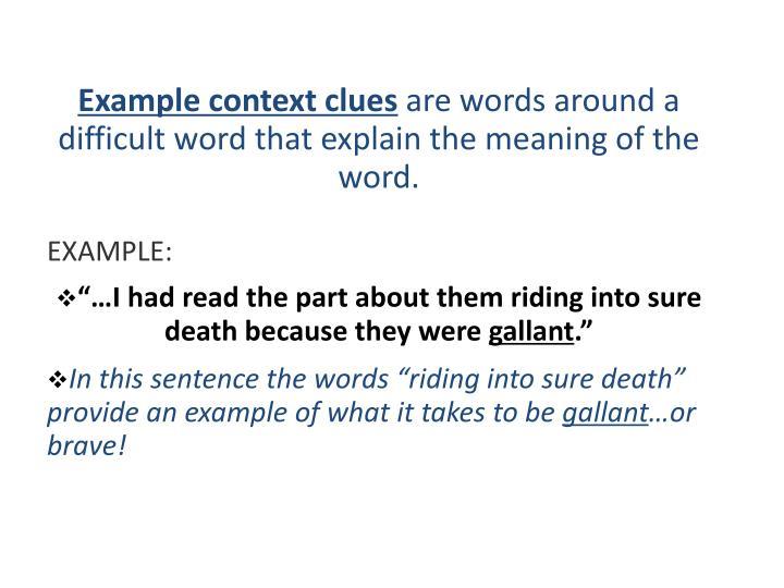 Example context clues
