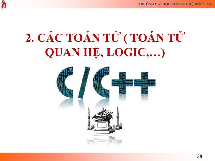 2. CC TON T ( TON T QUAN H, LOGIC,)