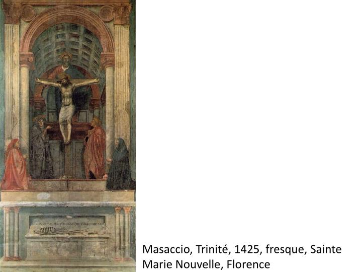 Masaccio, Trinité, 1425, fresque, Sainte Marie Nouvelle,