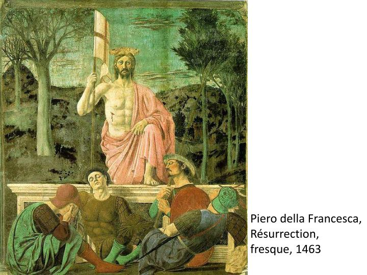 Piero della Francesca, Résurrection, fresque, 1463