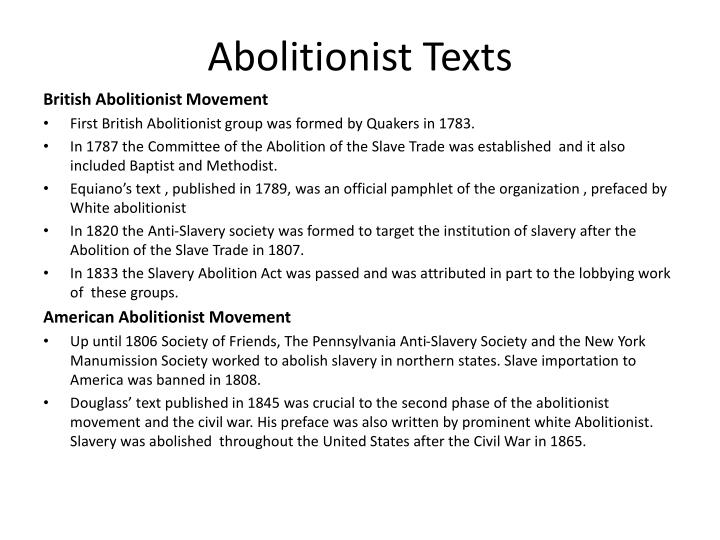 Abolitionist Texts