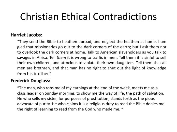 Christian Ethical Contradictions