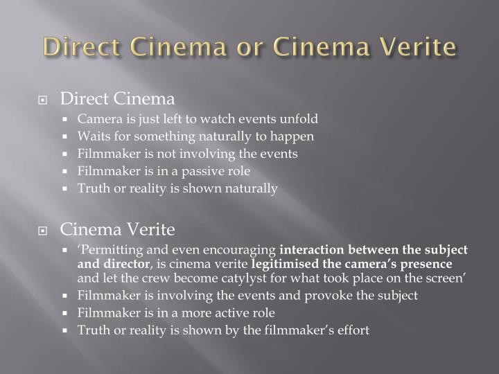 Direct Cinema or Cinema
