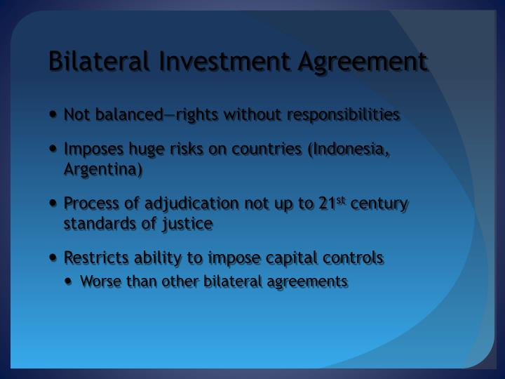Bilateral Investment Agreement